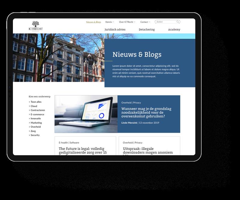ICTRecht website responsive gebouwd