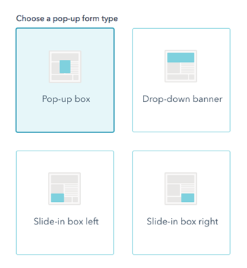 Type pop-up