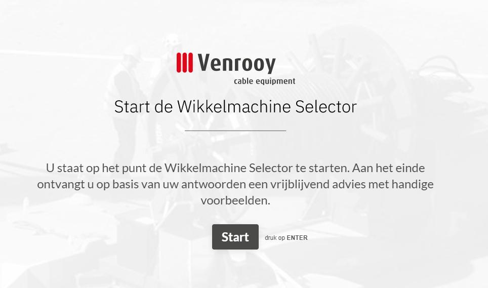 wikkelmachine venrooy